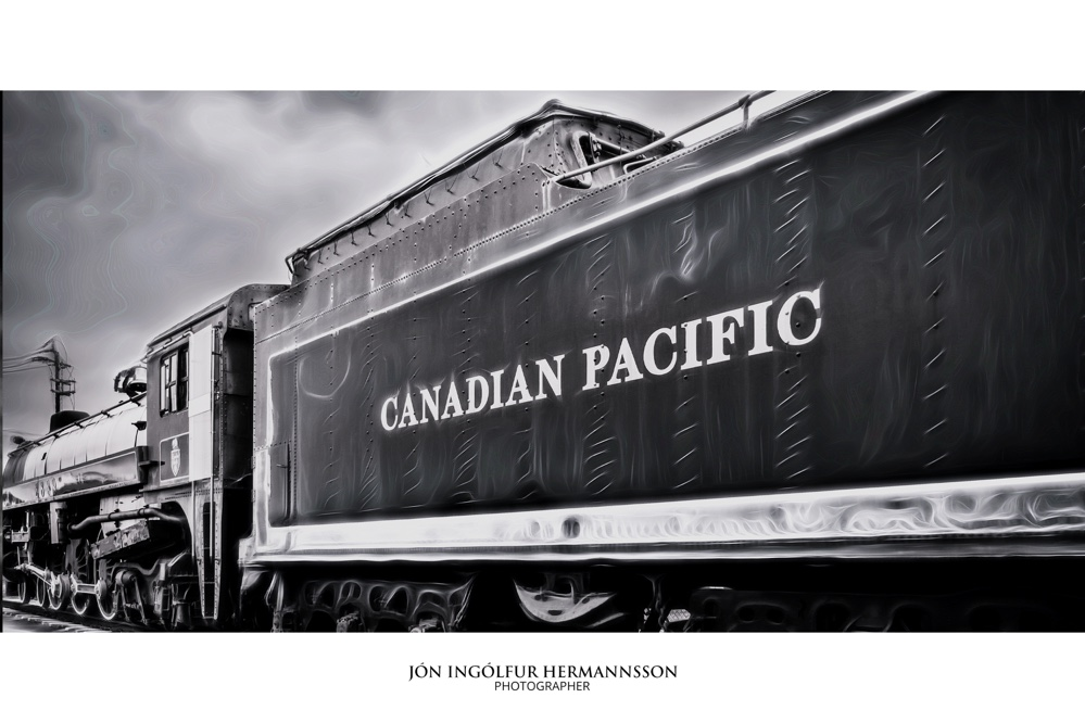 canadian train bw frame